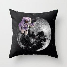 moon astronaut Throw Pillow