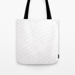 Vintage chic gray white hand painted typography Tote Bag