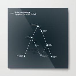 design constellation: the caliper Metal Print