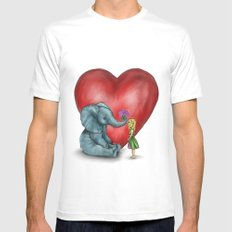 Pachyderm's  bouquet White Mens Fitted Tee MEDIUM