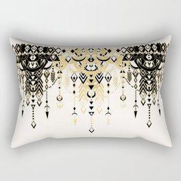 Modern Deco in Black and Cream Rectangular Pillow