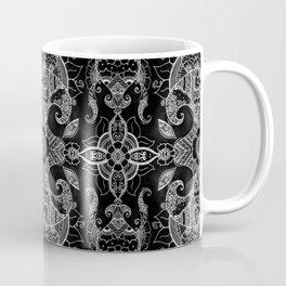 Sunflowers - Mehndi Paisley Floral Abstract Art - Black White #1 Coffee Mug