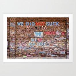 We did not suck | Noriko Aizawa Buckles Art Print