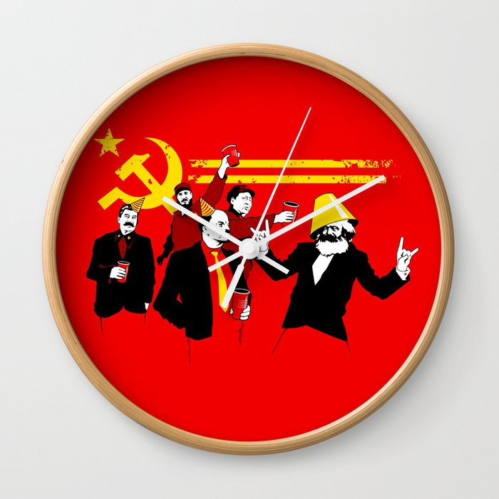 The Communist Party Original Wall Clock By Tomburns Society6