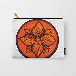 Medieval Stained Glass Flower Carry-All Pouch