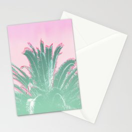 Palm Tree Leaves Tropical Vibes Design Stationery Cards