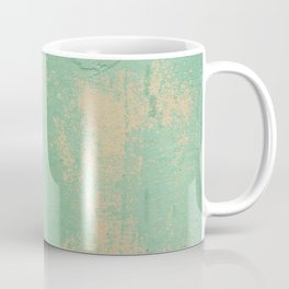 Green Patina Wall Grunge Texture Pattern Marbled Chippy Paint Mexico Mexican Vintage Coffee Mug