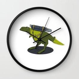tyrannosaurus traveler Wall Clock