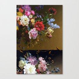 Golden age bohemian floral landscape Canvas Print