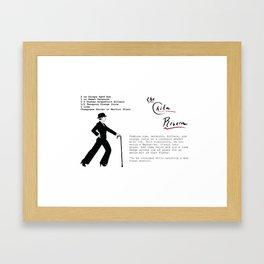 The Chita Rivera Cocktail Recipe Framed Art Print