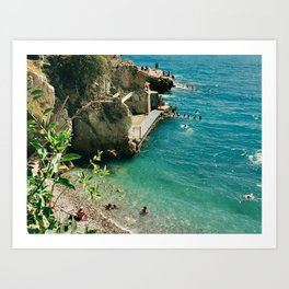 Dreaming of the French Riviera. Art Print