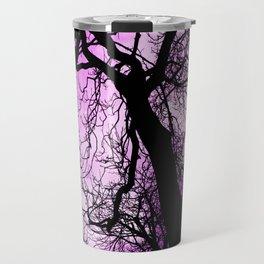 Purple evening moon through the trees Travel Mug