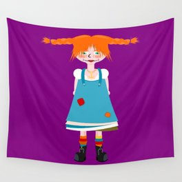 Red Head Wall Tapestry