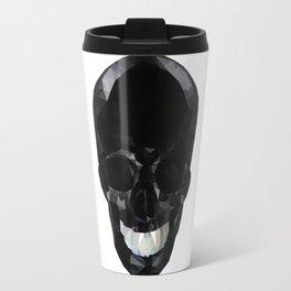 Skull Black Low Poly Travel Mug