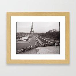 The Long March (Paris, France) ©2007 John D. Elliott  Framed Art Print
