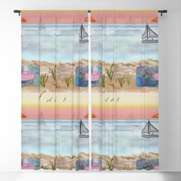Tranquillity Beach July 2020 Blackout Curtain