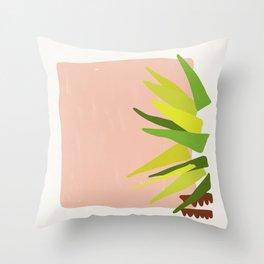 Geometric Palm Throw Pillow