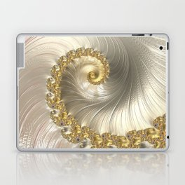 Gold and Pearl Fractal Swirl Laptop & iPad Skin