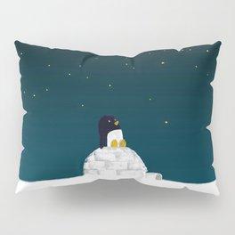 Star gazing - Penguin's dream of flying Pillow Sham