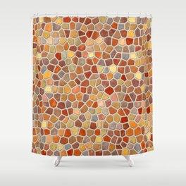 Fall Colors Mosaic Pattern - light Shower Curtain