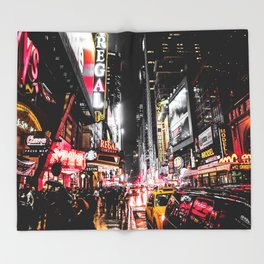 New York City Night II Throw Blanket