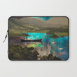 CANOEING IN THE NEBULA NEAR THE CASTLE Laptop Sleeve
