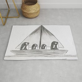 Sailing Penguins Rug