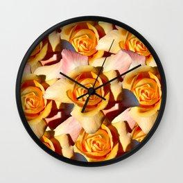 Yellow Roases Wall Clock