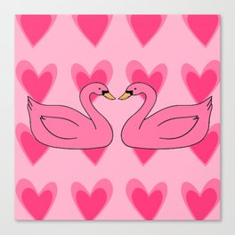 pink swan Canvas Print