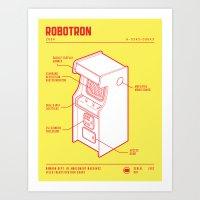ARCADE CAB - ROBOTRON Art Print