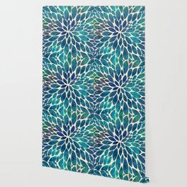 Petal Burst - Turquoise Wallpaper