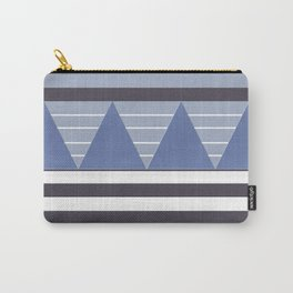 Patchy Stormy Blues Carry-All Pouch