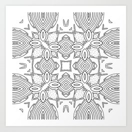 outback lines Art Print
