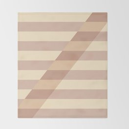 Striped Shadow 3 Throw Blanket