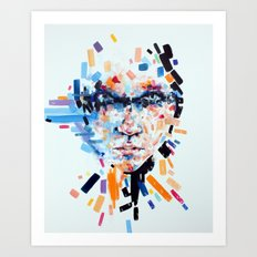 She slowly crumbles Art Print