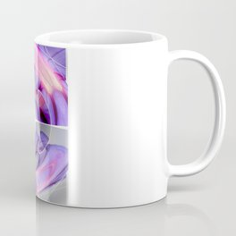 Abstract Morning Glory Fish Eye Collage Coffee Mug