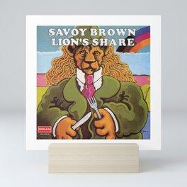 savoy brown Lion's share Mini Art Print