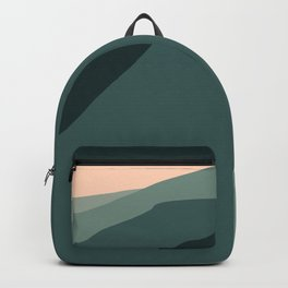blurry greenish mountains Backpack
