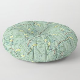 Pattern of pine branches and needles Floor Pillow