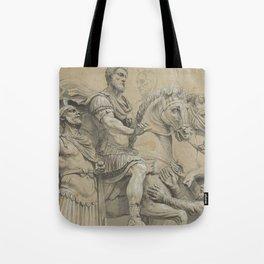 Vintage Marcus Aurelius on Horseback Illustration Tote Bag