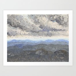 Over the Smokey Mountain Art Print