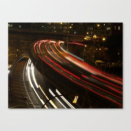 Brooklyn: BQE at Night Canvas Print
