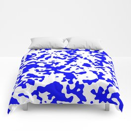 Spots - White and Blue Comforters