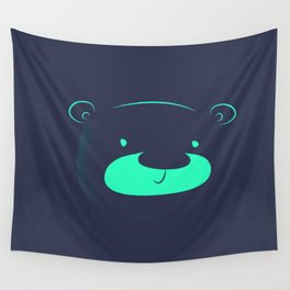 Neon bear Wall Tapestry
