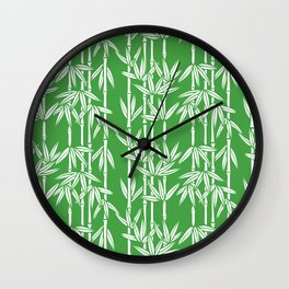 Bamboo Rainfall in Sullivan Green/White Wall Clock