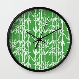 Bamboo Rainfall in Sullivan Green/White Wall Clock