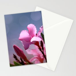 Beautiful Pink Flower of Nerium Oleander Stationery Cards
