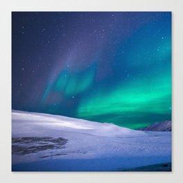 winter sky aurora Canvas Print