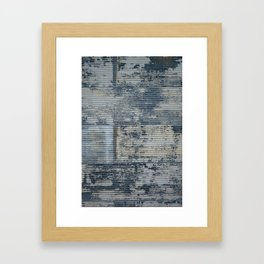 Warehouse District -- Vintage Industrial Farm Chic Abstract Framed Art Print