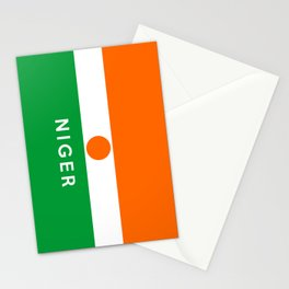 niger country flag name text Stationery Cards